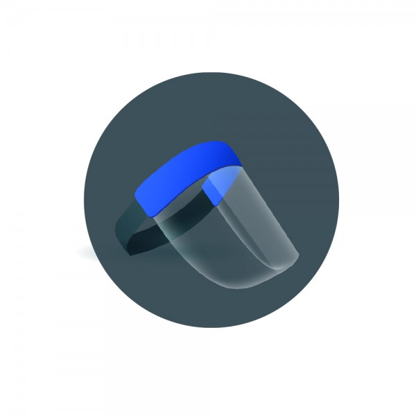 Gesichtsschutzschild blau